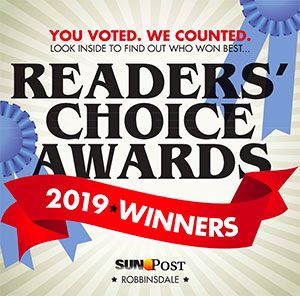 Sun Post Readers Choice Award image for best Dentist in 2019